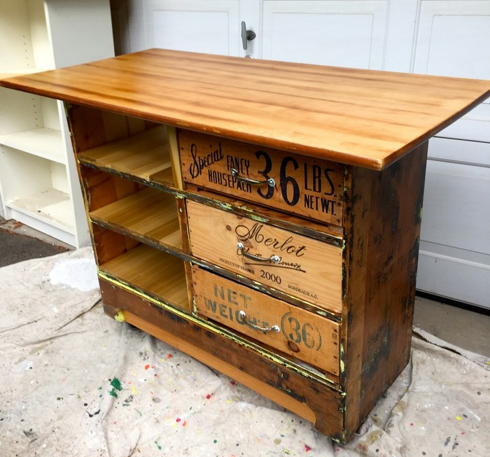 How to Turn an Ugly Dresser into a Rustic Kitchen Island Cart | DIY Diy Dresser Kitchen Island Ideas on diy kitchen cart ikea, diy painted dresser idea, cheap diy kitchen island idea, diy industrial kitchen island, diy kitchen decorating ideas,
